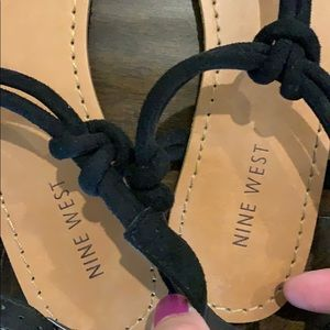 Nine West Shoes - Nine West Suede Thong Sandals - worn once